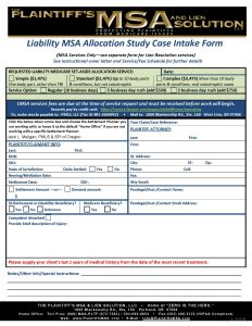 Liability Medicare Set-Aside Allocation Service Packet