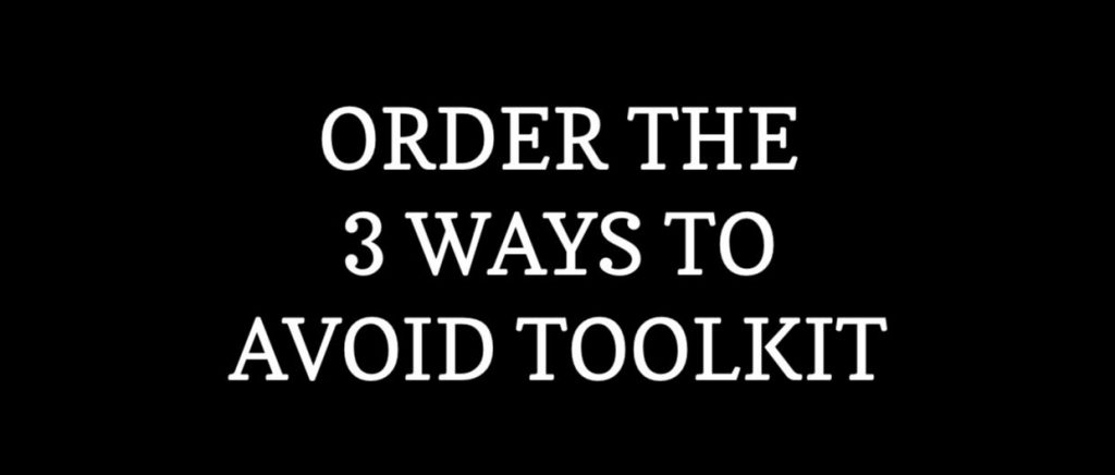 Order the 3 Ways to Avoid Toolkit